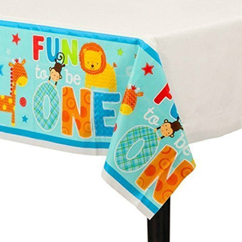 1st Birthday 'One Wild Boy' Plastic Table Cover (1ct)