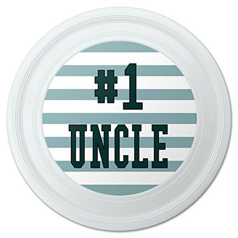"#1 Uncle Number One Favorite Novelty 9"" Flying Disc"