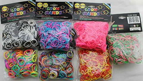 (5 Pack) Latex Free Loom Bands in Assorted Colors