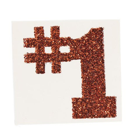 #1 Orange Glitter Tattoo Stickers (1 dz)