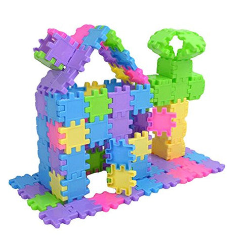 100 Pieces Creative 3cm Classic Building Blocks Preschool Kids Educational Toys with Storage Keg