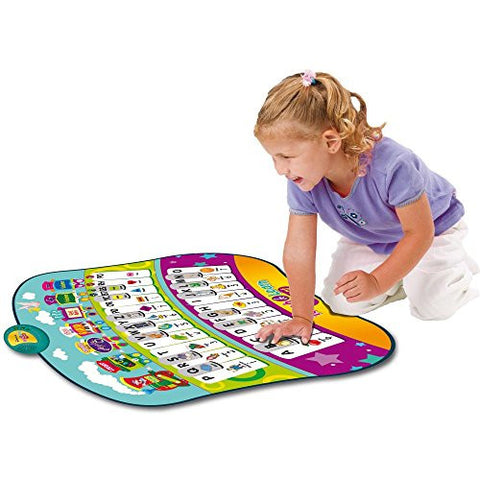 """All in One"" Educational Piano Play Mat with 33 Keys, 4 Built-in Games & Activities Covering the Alphabet, Words, Shapes, Spelling, Colors, & Music Playing, Along with Quiz, Tons of Fun, Great for Kids & Toddlers by Dimple"