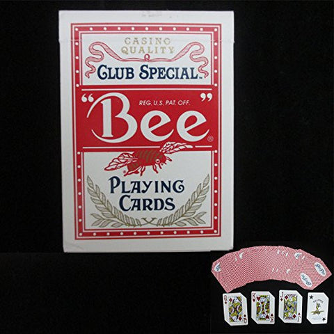 1 Deck Bee Standard Poker Playing Cards Red Brand Deck Casino Quality Sealed Box