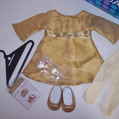 """Shimmery Gold Dress"" for 18"" American Girl Doll"