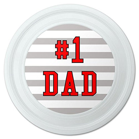 "#1 Dad Number One Father Novelty 9"" Flying Disc"