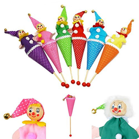 1 Pcs Clown Puppet Toy Baby Educational Pop Up Telescopic Doll Styles Random By Team-Management
