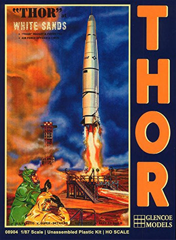 """Thor"" Rocket and FiringPad Unassembled Plastic Model Kit 1/87 Scale"