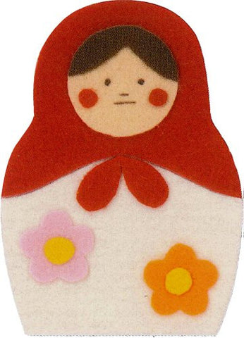 """Make with their children"" three felt felt applique KK-3 Matryoshka (japan import)"