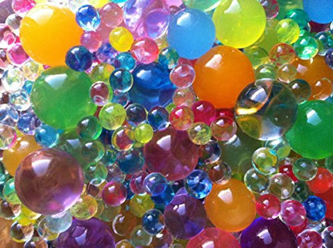4000 beads (2 oz) (60g) MarvelBeads Water Beads Gel Pearls-12 Color Rainbow Mix. Great as sensory toy.