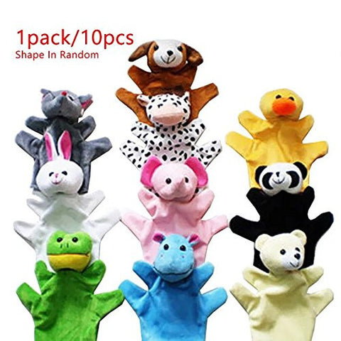 1 Pack/10 pcs Parent-Child Toys Finger Accidentally Plush Toy Story Doll Animal Hand Accidentally Tool Set