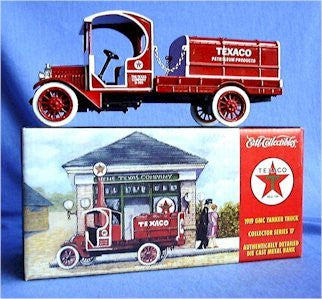 1/28 Scale Die Cast Metal 1919 Texaco GMC Tanker Truck Bank