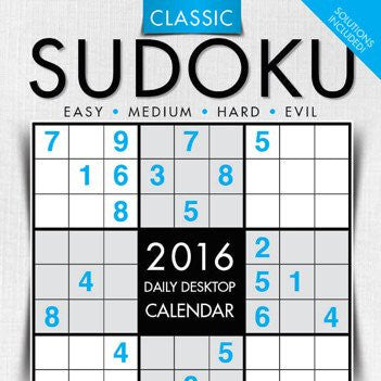 2016 SUDOKU DAILY DESKTOP CALENDAR TF PUBLISHING {jg} Great for mom, dad, sister, brother, grandparents, aunt, cousin, grandchildren, grandma, grandpa, wife, husband.