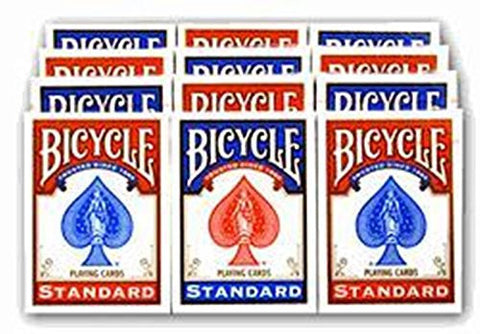 1 Dozen Bicycle Rider Back Poker Playing Cards - Includes 6 Bonus Cut Cards!
