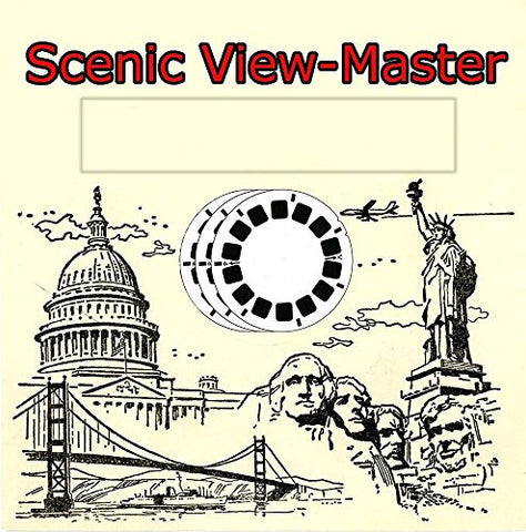 3 Classic Vintage ViewMaster Reels - 3D Images of Los Angeles, CA, San Antonio, TX, and New Orleans, LA.