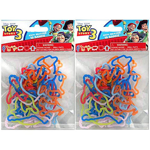 18 Pack Disney Toy Story 3 Silly Shaped Silicone Bandz