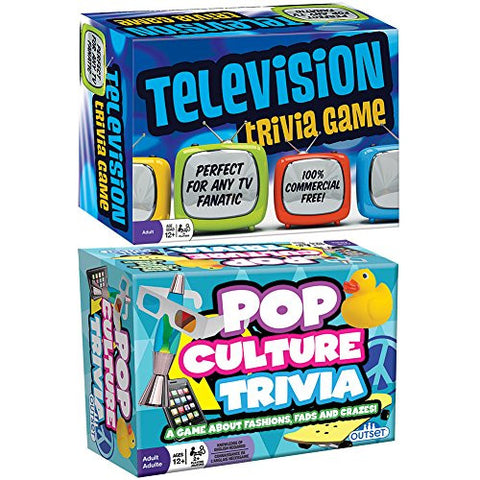 (Set) Television & Pop Culture Trivia Games About Television & Fads Ages 12+