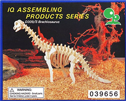 """ABC Products"" - Wooden 3-D - Walking Skelton - Balsa Wood - Assembling Kit (Walking Brachiosaurus Model - Easy To Assemble)"
