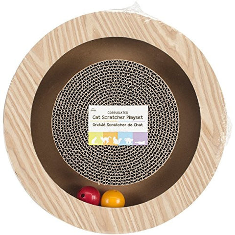 """Nandog Round Play Set Open 12""""X3""""-Wood Print"""