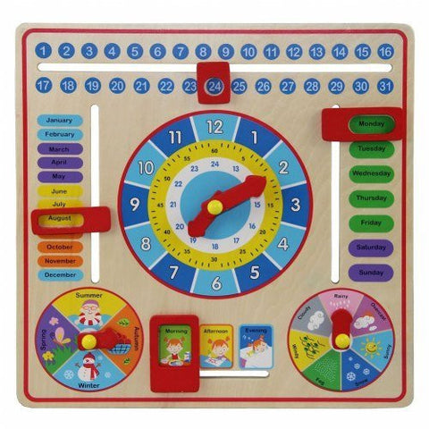Brightly Colored Slide Bars & Clock Hands for Interactive Learning