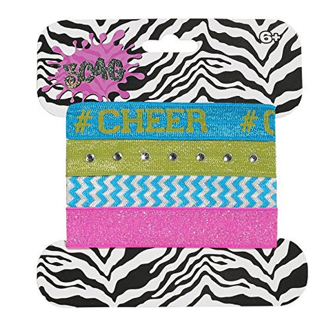 3C4G Cheer Hair Ties - Set of Four
