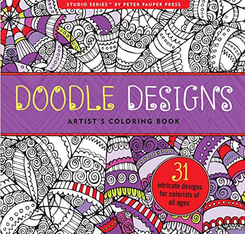 """Doodle Design"" Design Artist's Adult Coloring Book"