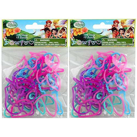 18 Pack Disney Fairies Silly Shaped Silicone Bandz