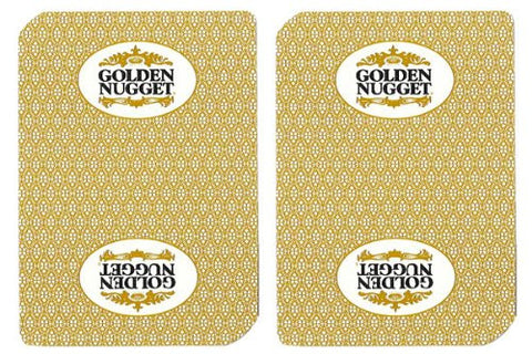 1 Deck Golden Nugget Casino Playing Cards Used In Real Casino - Free Bounty Button Kit