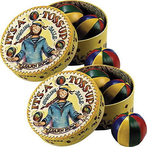 "(Set/2) ""It's A Toss Up"" Retro Packaged 4-Color Traditional Juggling Balls"