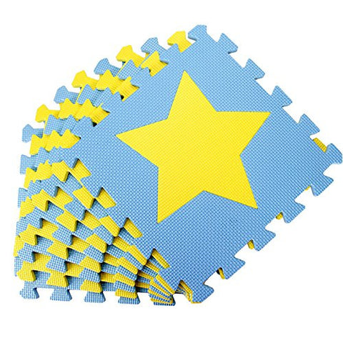 10 pcs Twinkle Star EVA Foam Play Mat Selected by MTOO Play - Indoor Kids Play Mat Floor Mats for Kids