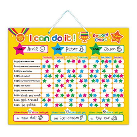 """I Can Do It"" Magnetic Responsibility and Reward Chart"