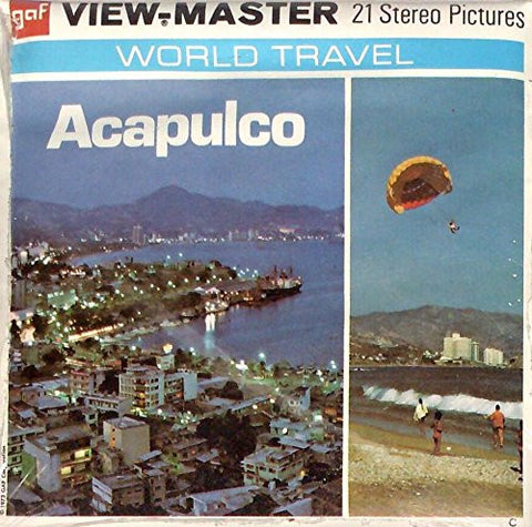 1970's Acapulco Mexico 3d View-Master 3 Reel Packet