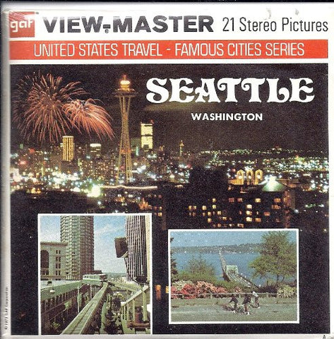1970's Seattle Washington 3d View-Master 3 Reel Packet
