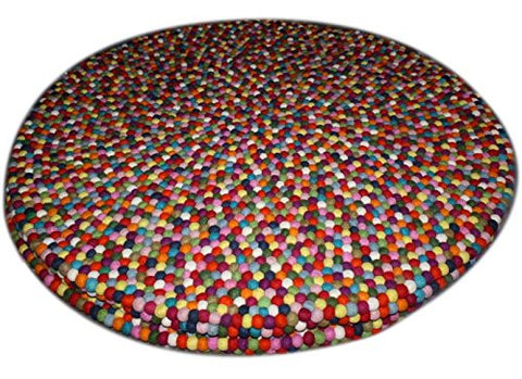 aBaby Gumball Felt Round Rug, 3""