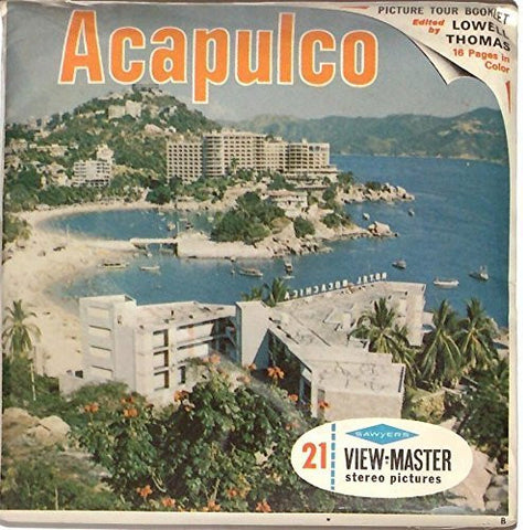 1960's Acapulco Mexico 3d View-Master 3 Reel Packet