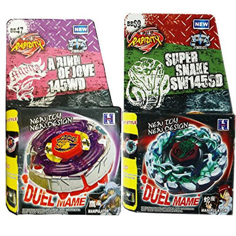2x Beyblades, Earth Eagle (Aquila) 145WD + Poison Serpent BB-69 in RETAIL PACKAGING