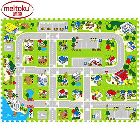 "12pcs Meikotu EVA Print foam puzzle mat /Waterproof Interlocking Exercise Tiles 15.8 ""X 15.8"" 3/8 ""Thick¡­"