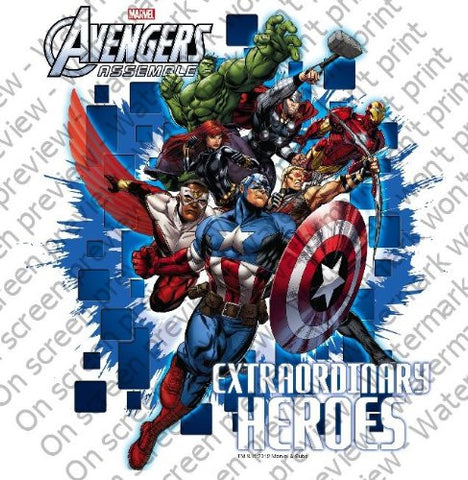 1/4 Sheet ~ Avengers Classic Extraordinary ~ Edible Image Cake/Cupcake Topper!!!