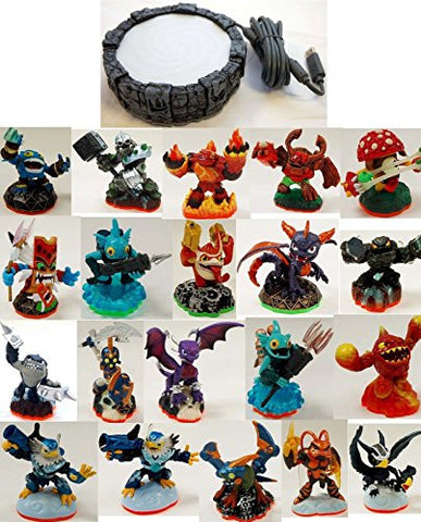 20 x Skylanders Adventures Giants Swap Force Trap Team Character Figure Pack Lot + Sony PS4 PS3 Game Portal