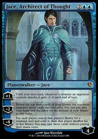 *FOIL* JACE ARCHITECT OF THOUGHT NM mtg Jace vs Vraska Blue - Mythic /item# R6SG5EB-48Q29741