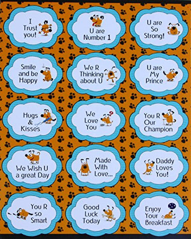 """U can do it"", ""Have a Great Day"" Stickers for Boys Inspirational Positive quotes cute Praise sticker Reward labels - 15 PACK"