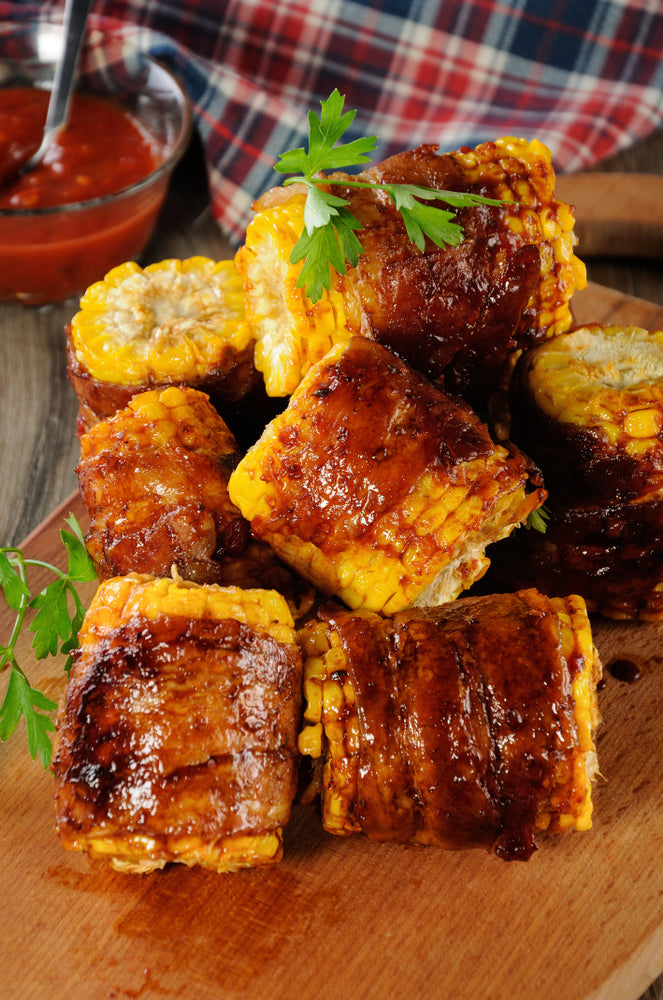 BBQ BRO'S SWEET HONEY CAJUN BACON WRAPPED CORN EARS