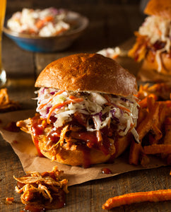 BBQ BRO'S SUPER BOWL PULLED BBQ CHICKEN SANDWICHES