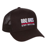 BBQ BRO'S TRUCKER HAT IN BLACK