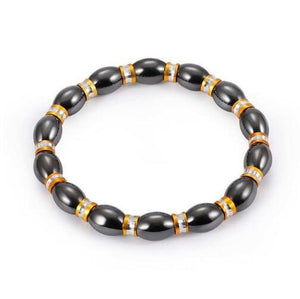 SaleGrabberStore | Weight Loss Round Black Stone Magnetic Therapy Bracelet - SaleGrabberStore