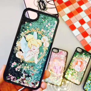 Cartoon Disneys Princess Dynamic Liquid Quicksand Case for iPhone - SaleGrabberStore