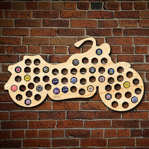 Motorcycle Gifts Beer Cap Map Wall Art