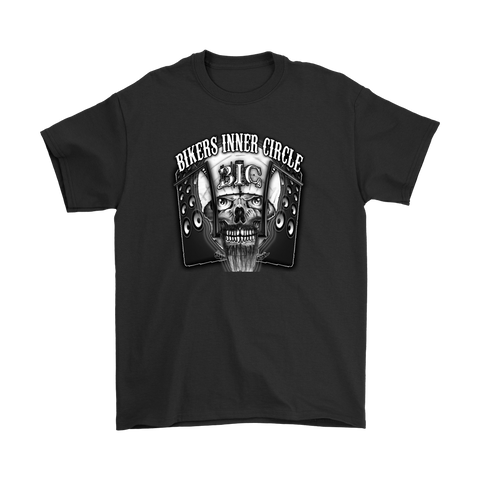 Bikers Inner Circle Skull & Speaker Men's T-Shirt