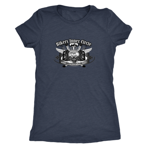 Bikers Inner Circle Skull & Wings Ladies T-Shirt