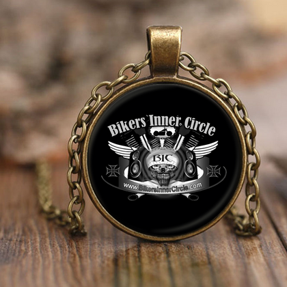 Bikers Inner Circle Pendant Necklace