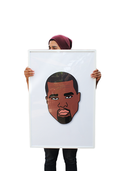 Limited Edition Kanye Mood Large Framed Poster